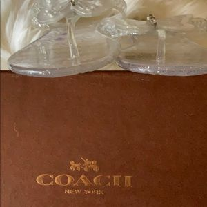 Coach Shoes - Coach Clear Pasarella Jelly Butterfly Sandal